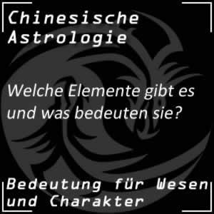 Chinesische Astrologie Elemente