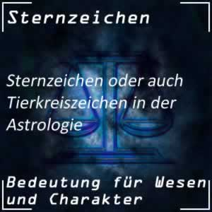 Astrologie Sternzeichen Tierkreiszeichen