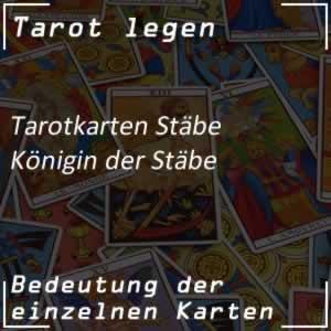 Tarotkarte Königin der Stäbe