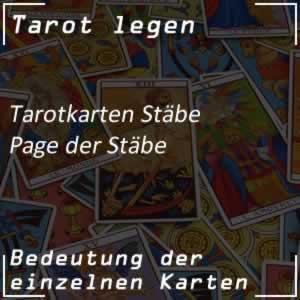 Tarotkarte Page der Stäbe