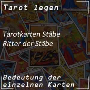 Tarotkarte Ritter der Stäbe
