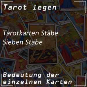 Tarotkarte Sieben Stäbe