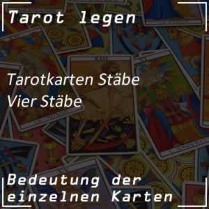 Tarotkarte Vier Stäbe