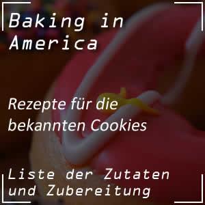 Rezepte für die Cookies oder Kekse