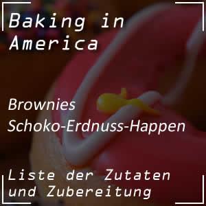 Rezept für Schoko-Erdnuss-Brownies