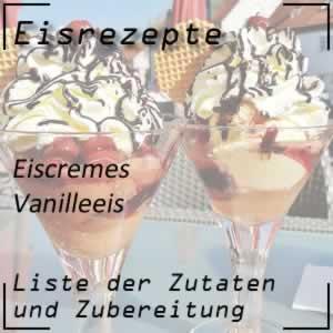 Vanilleeis mit der Eismaschine zubereiten