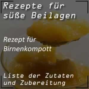 Rezept für Birnenkompott