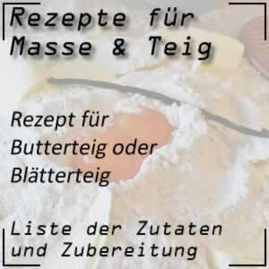 Butterteig oder Blätterteig