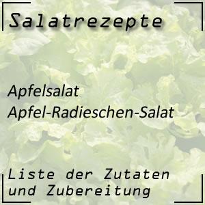Salatrezept Apfelsalat Radieschen