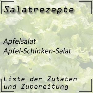 Salatrezept Apfelsalat Schinken