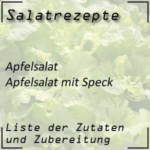 Salatrezept Apfelsalat Speck