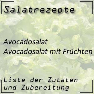 Salatrezept Avocadosalat Früchte
