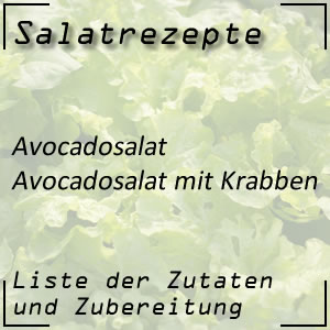 Salatrezept Avocadosalat Krabben