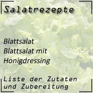 Salatrezept Blattsalat Honigdressing