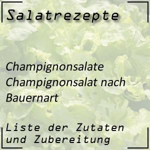 Salatrezept Champignonsalat Bauernart