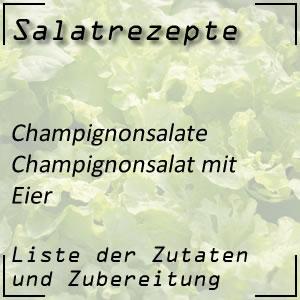 Salatrezept Champignonsalat Eier