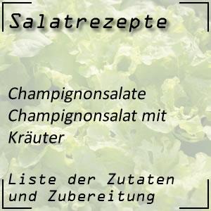 Salatrezept Champignonsalat Kräuter
