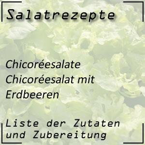 Salat Rezept Chicoréesalat Erdbeeren