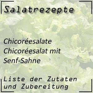 Salat Rezept Chicoréesalat Senf-Sahne