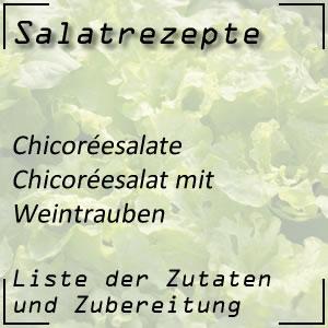 Salat Rezept Chicoréesalat Weintrauben