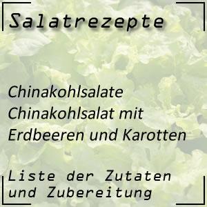 Salatrezept Chinakohlsalat Erdbeeren Karotten