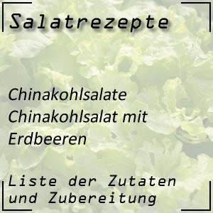 Salatrezept Chinakohlsalat Erdbeeren