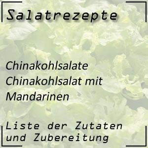 Salatrezept Chinakohlsalat Mandarinen