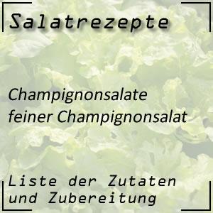 Salat Rezept feiner Champignonsalat