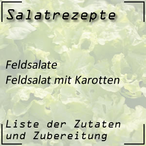 Salatrezept Feldsalat Karotten