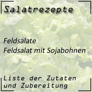 Salatrezept Feldsalat Sojabohnen