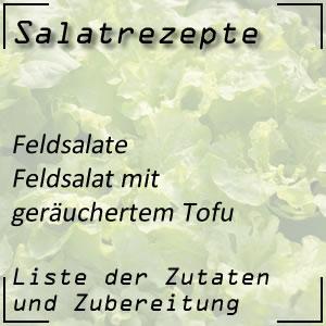 Salatrezept Feldsalat Tofu