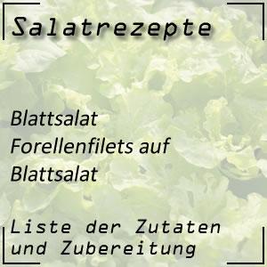 Salatrezept Blattsalat Forellenfilets