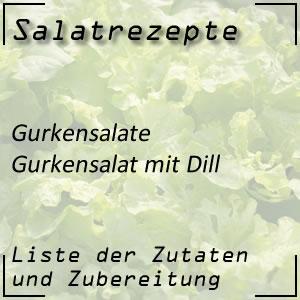 Salatrezept Gurkensalat Dill