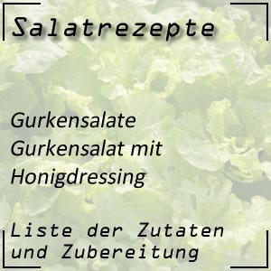 Salatrezept Gurkensalat Honigdressing