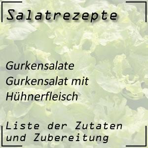 Salatrezept Gurkensalat Hühnerfleisch