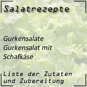 Salatrezept Gurkensalat Schafkäse