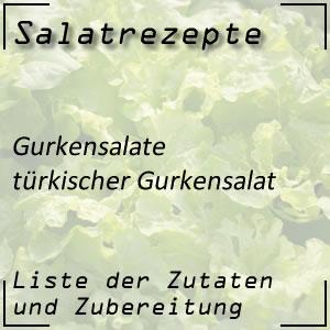 Salatrezept Gurkensalat türkisch