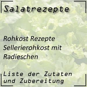 Sellerierohkost Radieschen