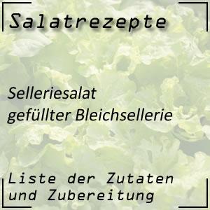 Salat Rezept gefüllter Bleichsellerie