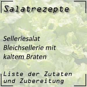 Salat Rezept Bleichsellerie kalter Braten