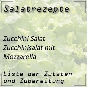 Salat Rezept Zucchinifrischkost Mozzarella