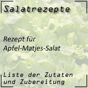 Salatrezept für Apfel-Matjes-Salat