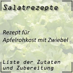 Salatrezept für Apfelrohkost mit Zwiebel