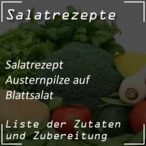 Austernpilze auf Blattsalat