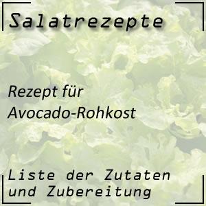 Salatrezept für Avocado-Rohkost