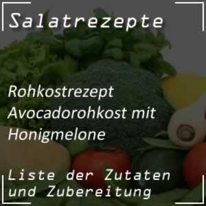 Avocadorohkost mit Honigmelone