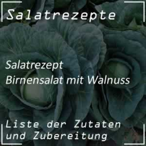 Birnensalat mit Walnuss