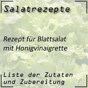 Salatrezept für Blattsalat mit Honigvinaigrette