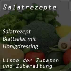 Blattsalat mit Honigvinaigrette