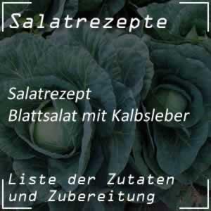Blattsalat mit Kalbsleber